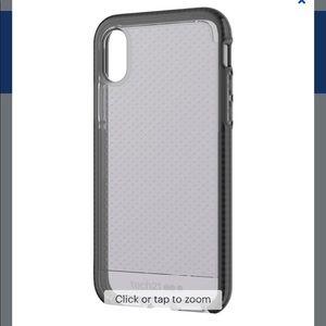 Tech21 iPhone XS Max case - Black/smoke grey.